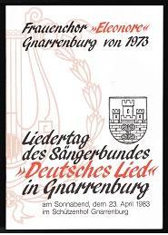 """Liedertag des Sängerbundes """"Deutsches Lied"""" in Gnarrenburg,: Ohm, Luise und"""