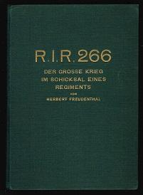 R.I.R. 266: Der große Krieg im Schicksal: Freudenthal, Herbert:
