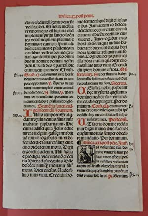 Early Printed leaf from a Missale Romanum: Early Printing)