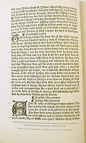 Le Morte Darthur. By Syr Thomas Malory. The Original Edition of William Caxton,: Malory, Sir Thomas...