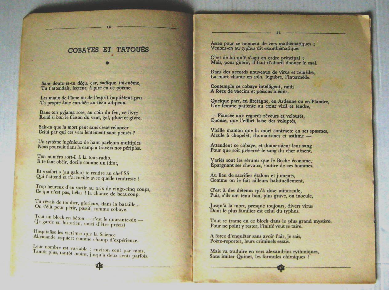 Buchenwald Poèmes Extraits De Je Reviens