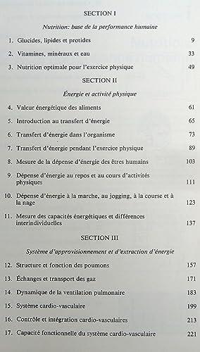 PHYSIOLOGIE DE L'ACTIVITE PHYSIQUE ÉNERGIE, NUTRITION ET PERFORMANCE: MAC ARDLE W.D., ...