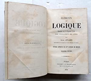 Éléments de logique concordant avec le programme officiel pour l'enseignement ...