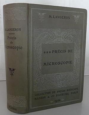Précis de microscopie technique-expérimentation-diagnostic: M. langeron
