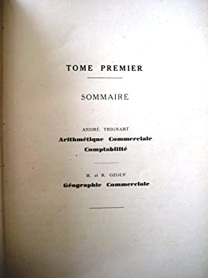 Nouvelle Encyclopedie Commerciale Quillet Tome 1 Arithmétique Commerciale Comptabilité Géographie ...