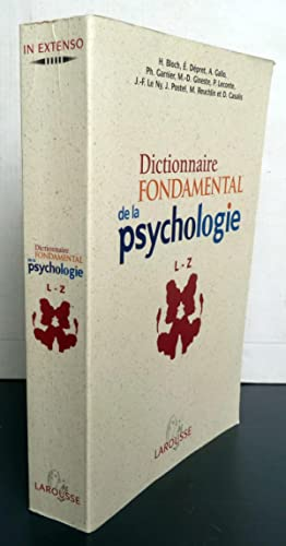 Dictionnaire Fondamental De La Psychologie Tome 2