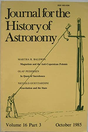 Journal for the History of Astronomy. Volume 16, Part 3, October 1985, N°47