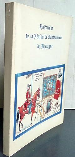 Historique de la légion de gendarmerie de: Collectif