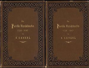 Die Familie Mendelssohn 1729 - 1847, nach Briefen und Tagebüchern - 2 Bände: Hensel, S.