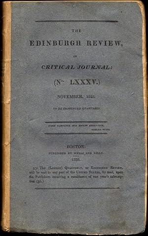 The Edinburgh Review, or Critical Journal (No. LXXXV.) November, 1825: various