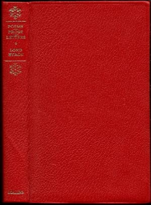 Byron: Selected Verse and Prose Works Including: Byron, Lord [edited