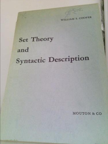 Set Theory and Syntactic Description - William S. Cooper