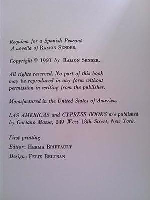 Requiem Por Un Campesino Espanol Or Requiem for a Spanish Peasant: Ramon J. Sender