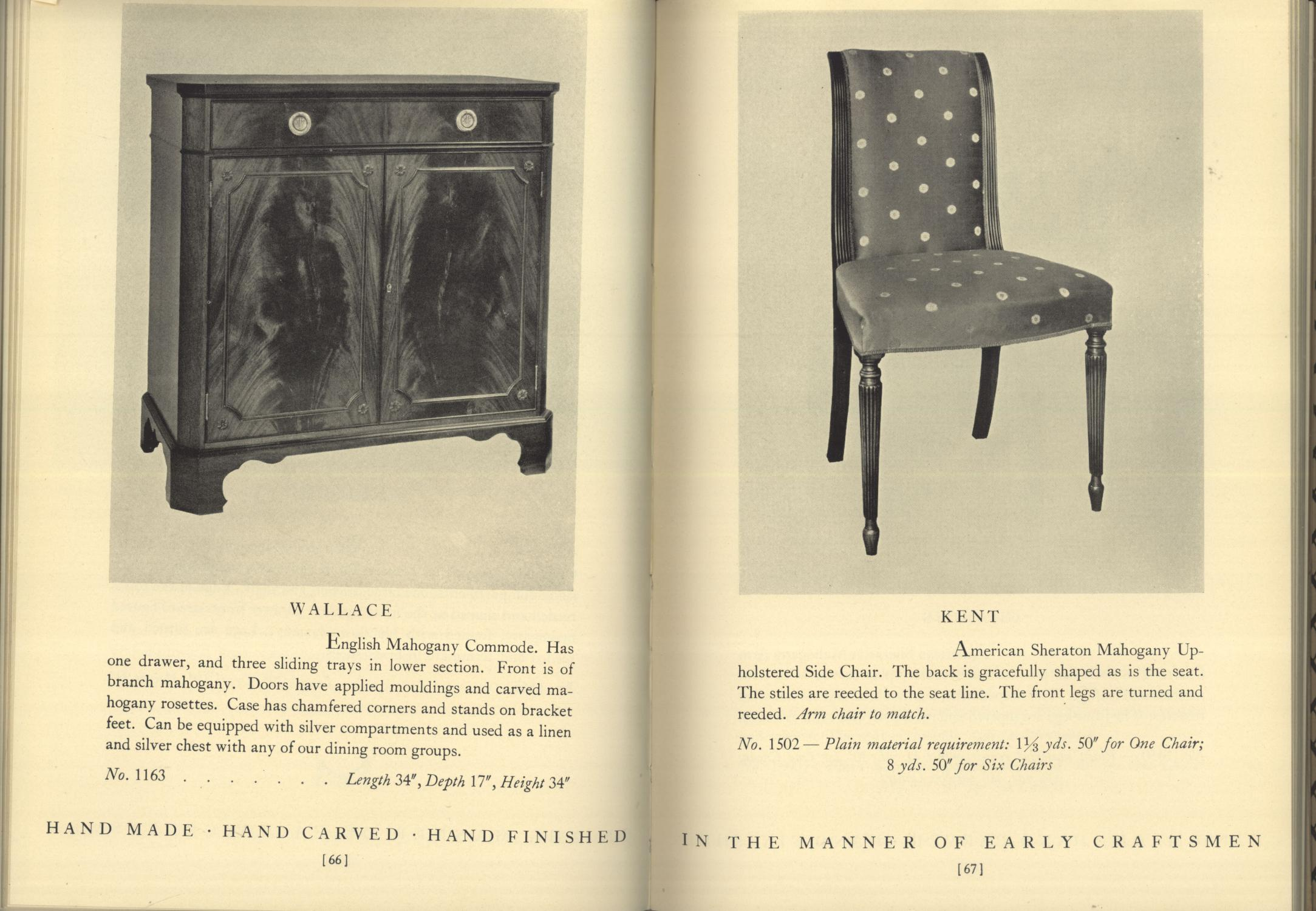 A Collection Of Fine Period Furniture Made By Old Colony Company