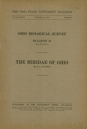 The Miridae of Ohio (Ohio Biological Survey Bulletin 16, Vol. 4, No. 1): Watson, S. A.