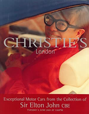 Exceptional Motor Cars From the Collection of Sir Elton John CBE, Tuesday 5 June 2001 at 7.00 PM