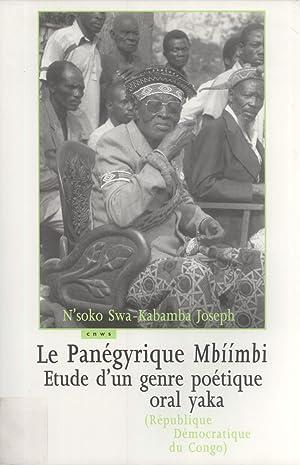 Le Panégyrique Mbíímbi: Étude d'un Genre Littéraire Po&...