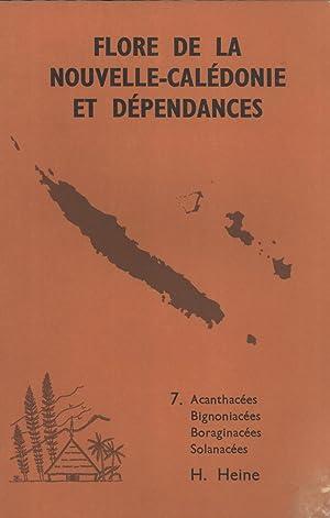 Flore De La Nouvelle-Calédonie Et Dépendances: 7. Acanthacées, Bignoniac&...