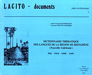 Lacito-Documents : Dictionnaire Thématique des Langues de: Haudricourt, André-Georges;Ozanne-Rivierre, Françoise