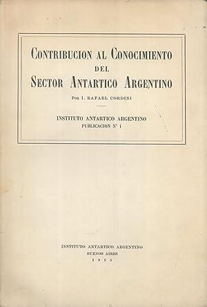 Contribución al Conocimiento del Sector Antártico Argentino: Cordini, I. Rafael