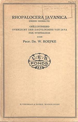 Rhopalocera Javanica (Derde Gedeelte): Geïllustreerd Overzicht der Dagvlinders van Java: ...