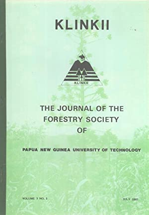 Klinkii: The Journal of the Forestry Society of Papua New Guinea, Volume 3, Number 3: T. C. Liew; A...