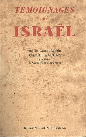Témoignages sur Israël: Kaplan, Jacob (editor)