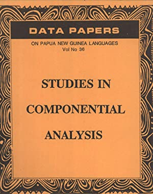 Studies in Componential Analysis (Data Papers on: Franklin, Karl J.