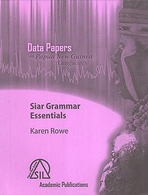 Siar-Lak Grammar Essentials: Rowe, Karen