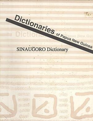 Sinaugoro Dictionary (Dictionaries of Papua New Guinea, 15): Gerhard Tauberschmidt (compiler); ...