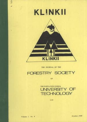Klinkii: The Journal of the Forestry Society of Papua New Guinea, Volume 1, Number 4: R. J. Johns; ...