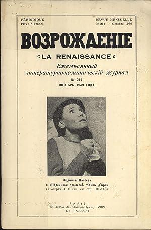 Vozrozhdenie = La Renaissance: Revue Mensuelle Littéraire et Politique, No. 214: S. ...