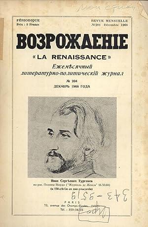 Vozrozhdenie = La Renaissance: Revue Mensuelle Littéraire et Politique, No. 204: S. ...