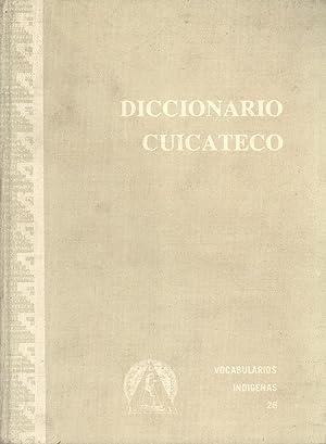 Diccionario Cuicateco: Español-Cuicateco, Cuicateco-Español (Vocabularios y ...