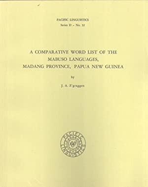 A Comparative Word List of the Mabuso Languages, Madang Province, Papua New Guinea (Pacific ...