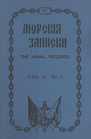 Morskia zapiski = The Naval Records, Vol. X, No. 3: P. A. Warneck; G. M. Vesselago; A. V. Kovanko; ...