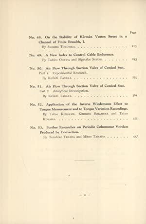 Reports of the Aeronautical Research Institute, Tokyo Imperial University. Vol. VI; Nos. 42-53 = ...