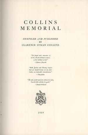 Collins Memorial: Clarence Lyman Collens
