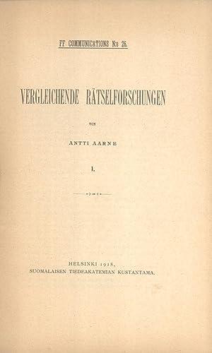 Vergleichende Rätselforschungen, 1-3 & Axel Olrik und Oskar Dähnhardt (FF ...