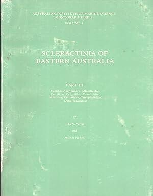 Scleractinia of Eastern Australia. Part 3: Families Agariciidae, Siderastreidae, Fungiidae, ...