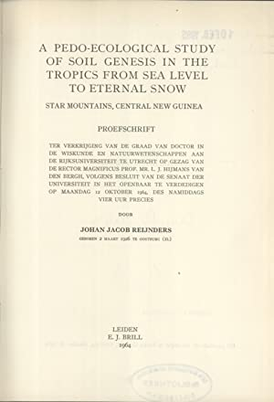 A pedo-ecological study of soil genesis in the tropics from sea level to eternal snow, Star ...