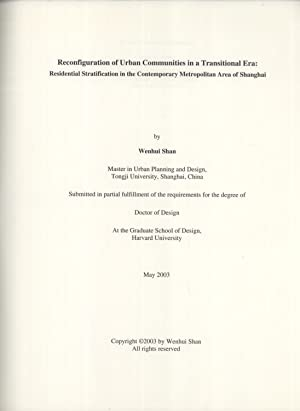 Reconfiguration of Urban Communities in a Transitional Era: Residential Stratification in the ...