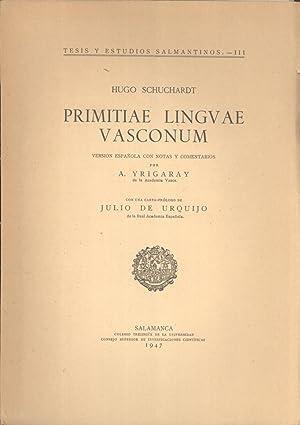 Primitiae Lingvae Vasconum. Version Española con Notas y Comentarios (Tesis y Estudios ...