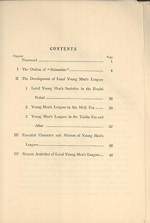 Seinendan: Young Men's Leagues of Japan: Torarokuro Shimomura (compiler); Kaizo Matsuda (...