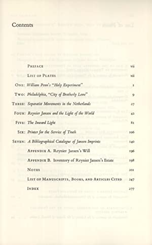 Reynier Jansen of Philadelphia, early American printer: a chapter in seventeenth-century ...