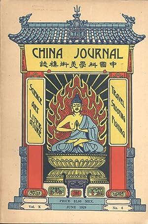 The China Journal. Vol. X, No. 6. June, 1929: Arthur de C. Sowerby & John C. Ferguson (editors)