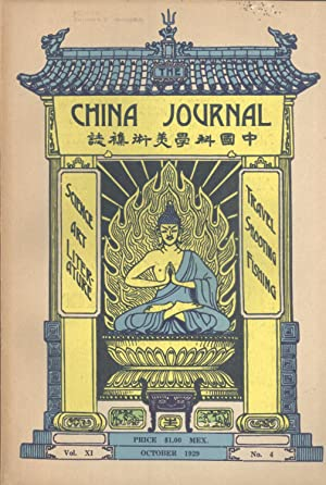 The China Journal. Vol. XI, No. 4. October, 1929: Arthur de C. Sowerby & John C. Ferguson (editors)