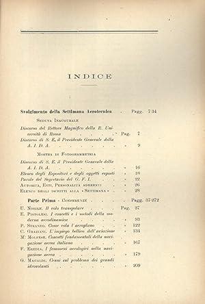 Atti della i Settimana Aerotecnica, Roma - 23-29 Novembre 1925 (In Occasione del V Anniversario ...
