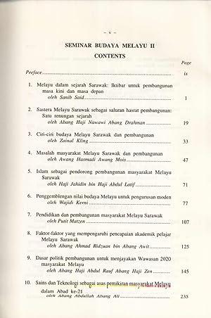 Malay and Melanau Cultural Heritage Seminars II,: Sanib Said (editor)