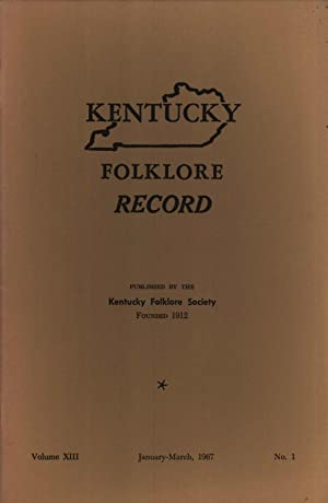 Kentucky Folklore Record, Volume 13, No. 1: Mary Washington Clarke;
